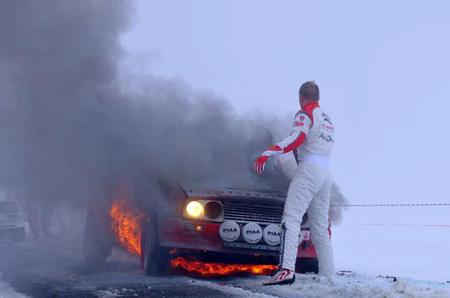 A Mikko Hirvonen se le quema un pedazo de historia, el Citroën Visa 1000 pistes