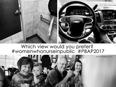 ¿Y tú, qué vistas prefieres para comer? Una genial defensa a la lactancia materna en público