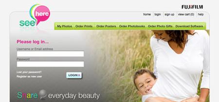SeeHere de Fujifilm, sito para compartir e imprimir nuestras fotos