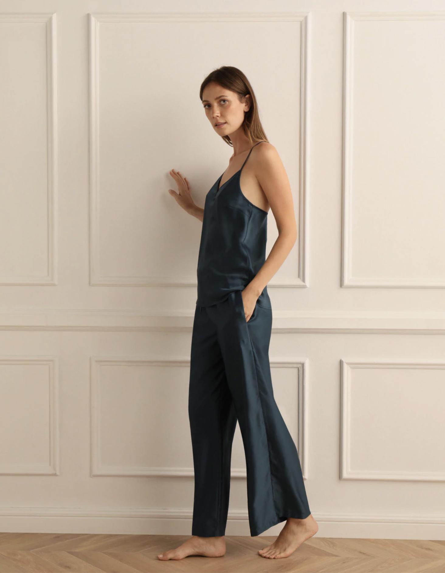 Pijama de mujer Tejido Soft largo de raso