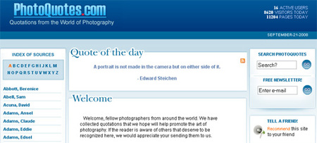 Photoquotes, recopilando citas de fotógrafos