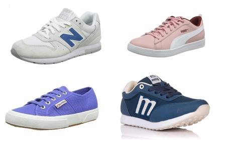 Chollos en tallas sueltas de zapatillas Superga, Puma, New Balance o Mustang en Amazon