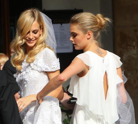 Chanel es la firma elegida por Poppy Delevingne para el día de su boda