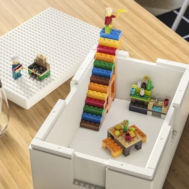 Las nuevas cajas de almacenaje de Ikea x Lego hacen que ordenar sea de lo más apetecible (sobre todo si ya eras fan del juego)