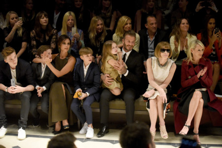 The Beckham Family And Anna Wintour On The Front Row At The Burberry London In Los Angeles Event