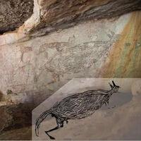 Se constata que este canguro es la pintura rupestre más antigua de Australia y tiene 17.500 años