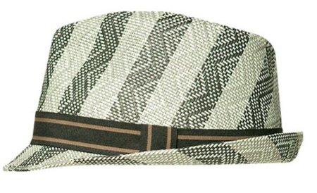 Sombrero de papel estampado en Zara