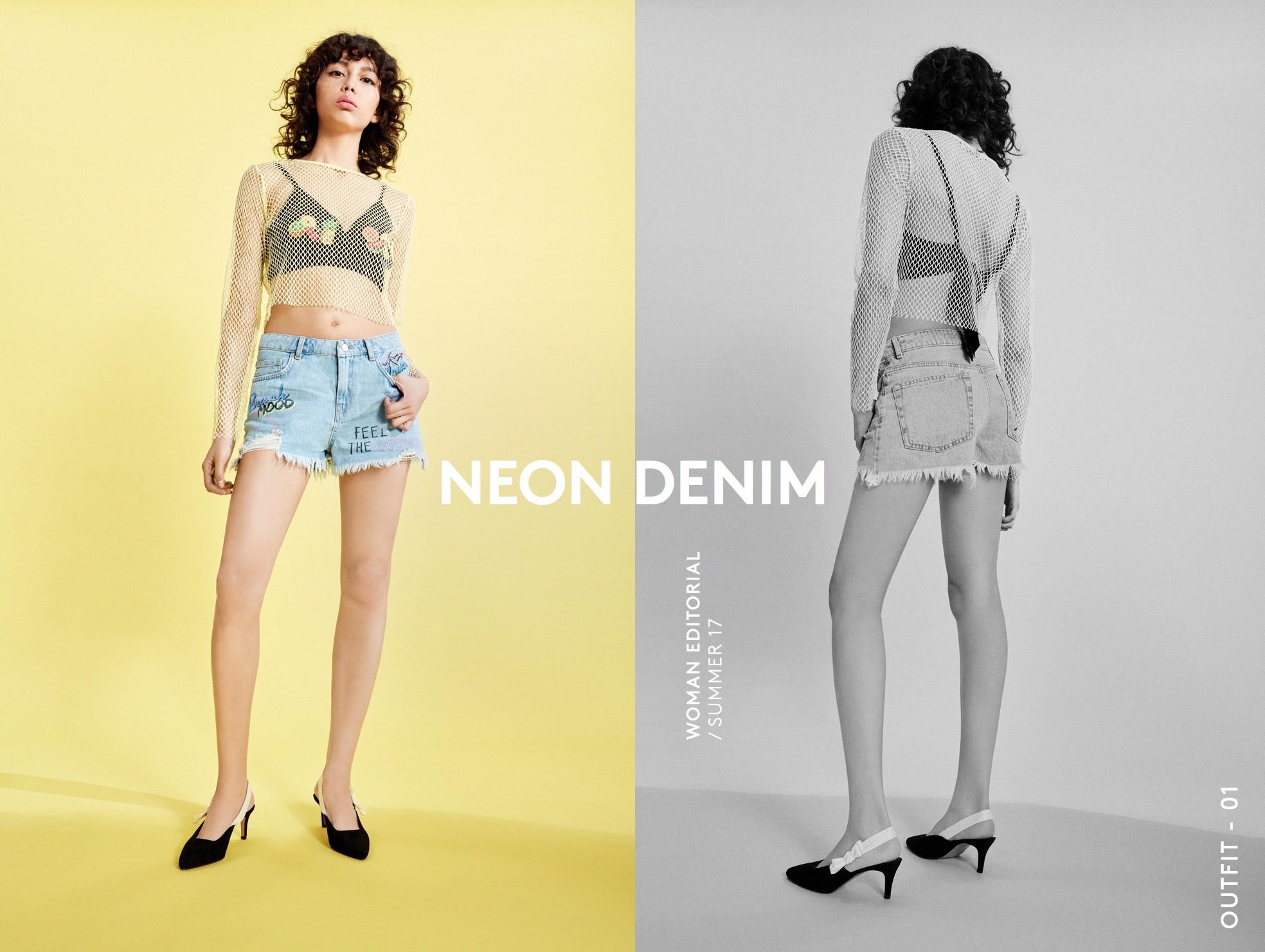 Lefties Neon Denim lookbook