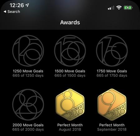 Nuevos objetivos de movimiento iOS 13