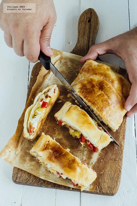 Hojaldre de verduras y queso feta: receta