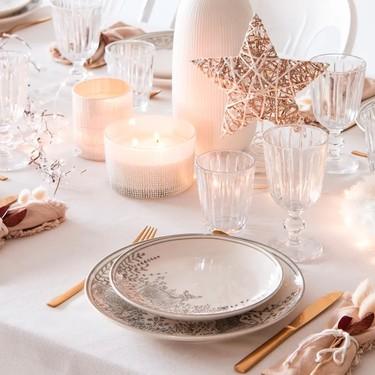 Decora tu mesa de Navidad con un elegante toque dorado con estas 15 propuestas de temporada de Maisons du Monde