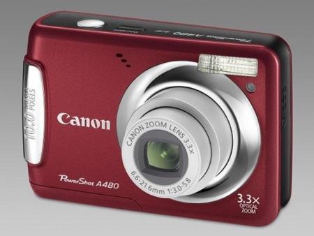 Canon PowerShot A480, con 10 megapíxeles