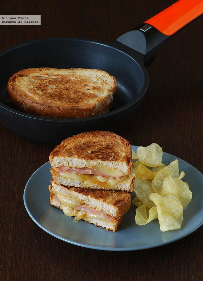 S ndwich de mortadela y queso san sim n con cebolla for Que se puede cocinar hoy