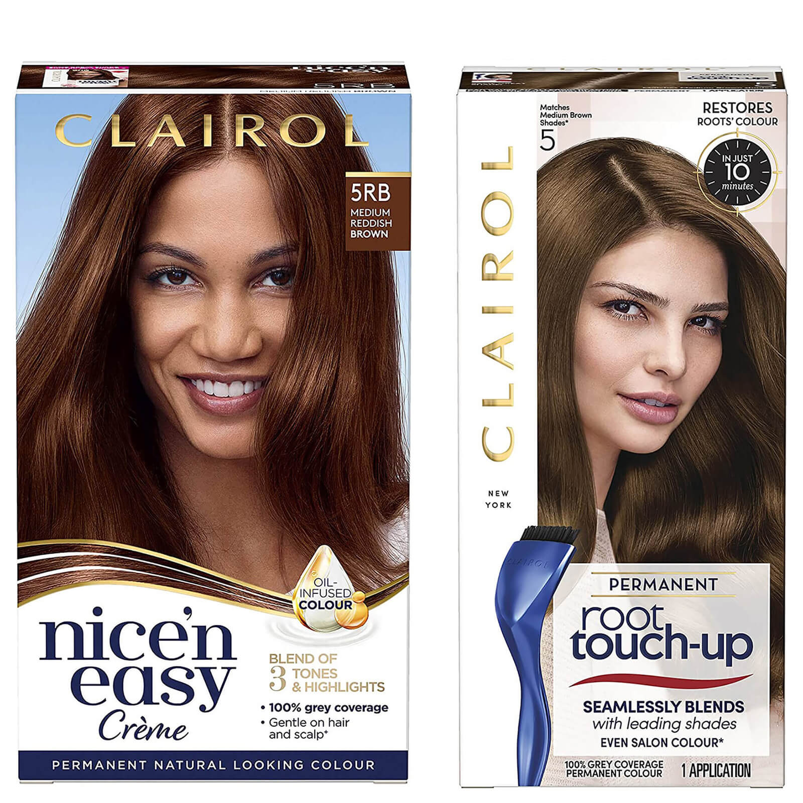 Clairol Nice' n Easy Permanent Hair Dye and Root Touch up Duo
