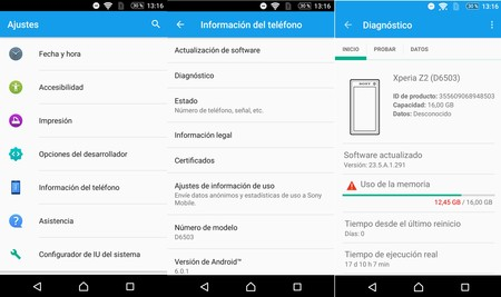 Diagnostico Xperia