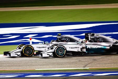 Hamilton Rosberg Barein 2014