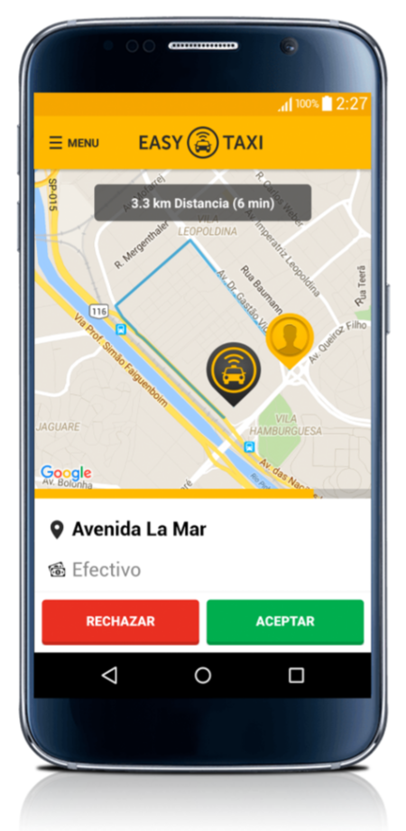 Easy Taxi Solicitud