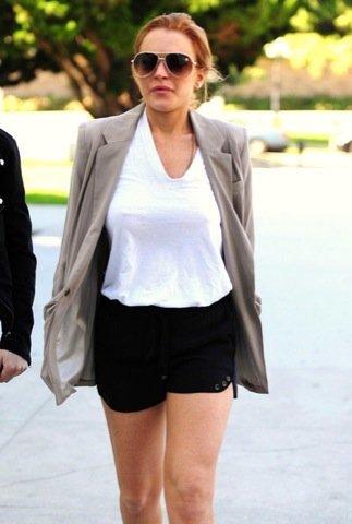 Lindsay Lohan, look de calle sport