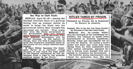 En 1932, la prensa y los políticos también creían que Hitler se iba a moderar al llegar al poder