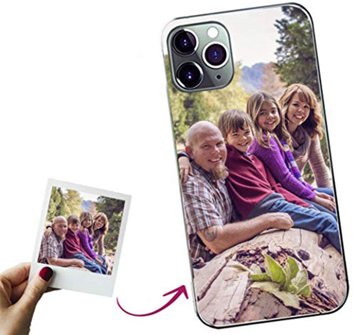 Mookase Funda para iPhone 11 XI Pro Personalizada para TU MÓVIL con Imagen O Texto, Carcasa Personalizable, Gel Flexible, Borde Trasparente, Regalo Original