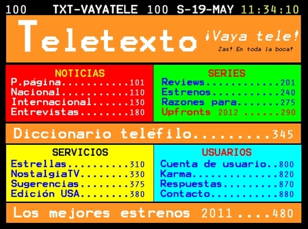La página de teletexto de ¡Vaya tele!, la imagen de la semana