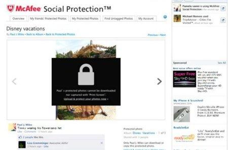 McAfee lanzará un plugin para controlar quién ve nuestras fotos en Facebook y evitar que las descarguen