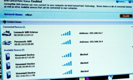 Intel Cliffside, mini-redes con Wi-Fi