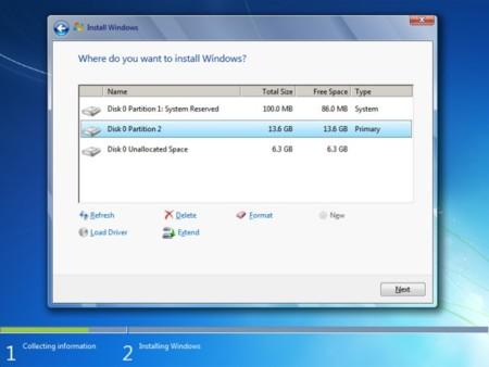 Windows 7 Install Layout
