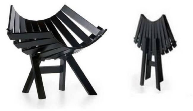 Clip chair una silla plegable de dise o for Sillas plegables diseno