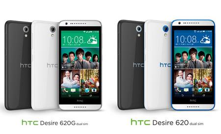 Desire 620 y 620G, así son los nuevos gama media de HTC
