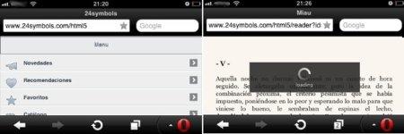 Acceso desde el móvil a 24symbols