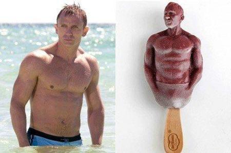 Helado de Daniel Craig