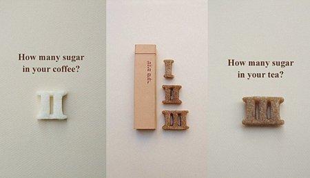 Terrones de azúcar con forma de números romanos