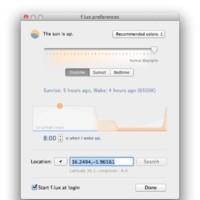 f.lux mejora y ahora adapta la temperatura de color de tu Mac según tu propio horario