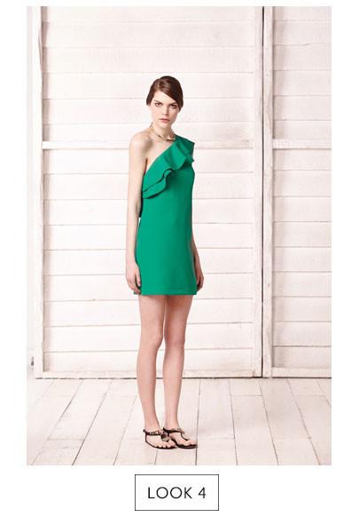 Vestidos verde sfera