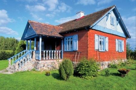 Casas poco convencionales: una casa de cuento, colorista y vintage en Polonia