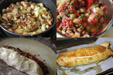 Receta de wellington de carne picada de ternera - Que cocinar con carne picada ...