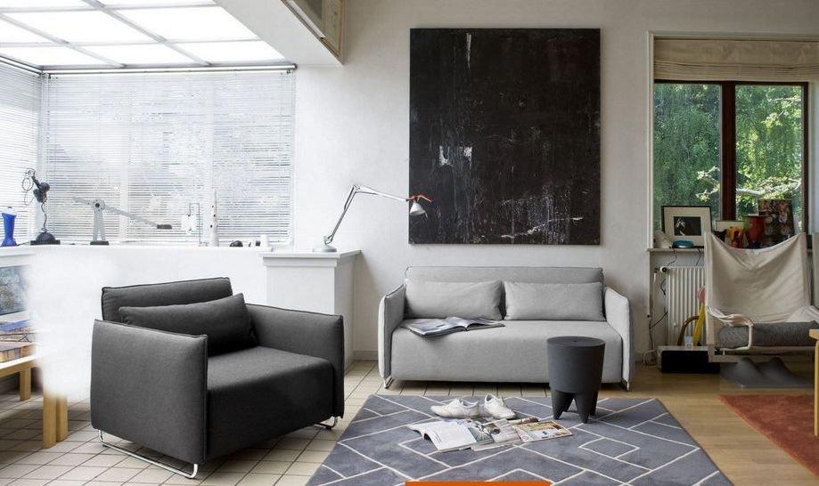 Nueve sillones convertibles en camas para espacios for Sillones living para espacios reducidos
