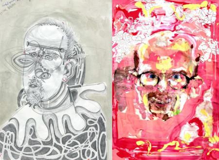 Esto es lo que pasa cuando tomas una droga distinta cada día y dibujas un autorretrato