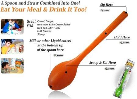 Sip-N-Spoon: cuchara y pajita, dos en uno
