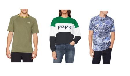 Chollos en tallas sueltas de camisas, camisetas y sudaderas The North Face, Levi's, Tommy Hilfiger o Pepe Jeans por menos de 25 euros en Amazon