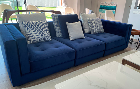 Sofa Tiziano Azul Noche