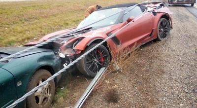 Dolorpasión™: El Chevrolet Corvette Z06 rebanado por cables de acero