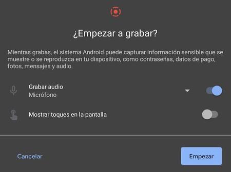 Cómo grabar el audio del móvil con la grabadora de pantalla que incluye Android 11