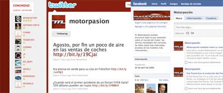 Motorpasión: karma, Facebook, Twitter...