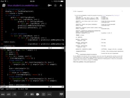 Programar código en un iPad todos los días es posible