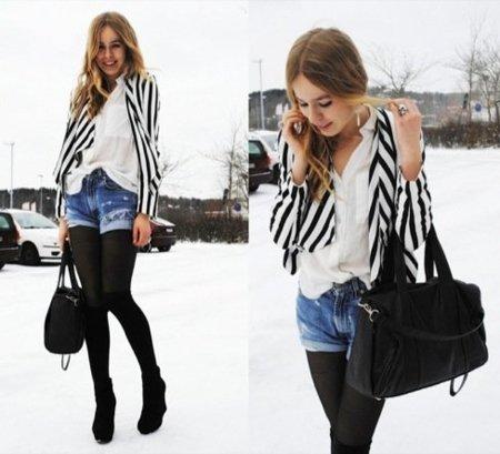 Streetstyle moda a rayas: blazer