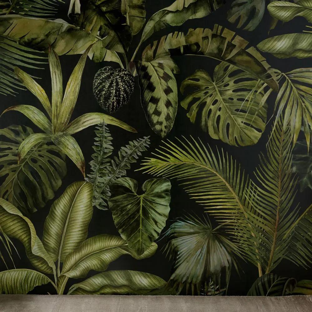GREEN ADDICT.- Papel pintado tejido con estampado vegetal 288x350 cms