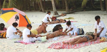 Comentario acerca de los masajes en las playas