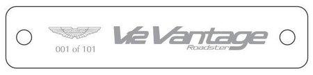 Placa 101 Aston Martin V12 Vantage Roadster